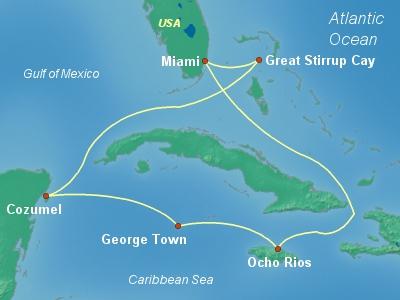 Круиз Norwegian Getaway из Майами на Ямайку, Кайманы и в Мексику с 10.04.16