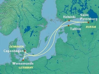 מסלול שייט בים הבלטי עם המגניפיקה
