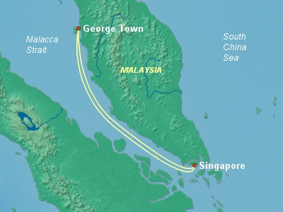 Asia Cruise Itinerary Map