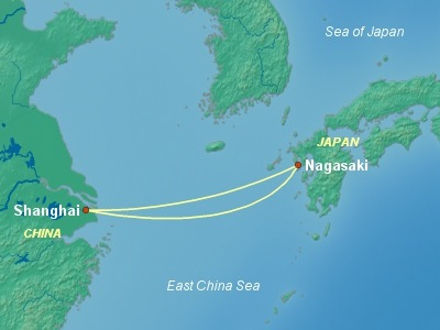 Japan Cruise Itinerary Map