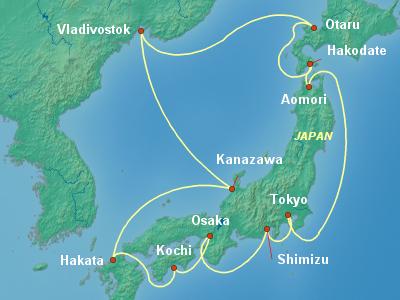 שייט ליפן | הפלגה ליפן | קרוז יפן