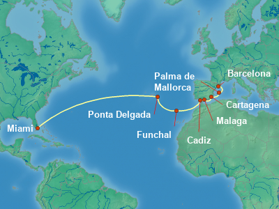 Canary Islands Cruise Itinerary Map