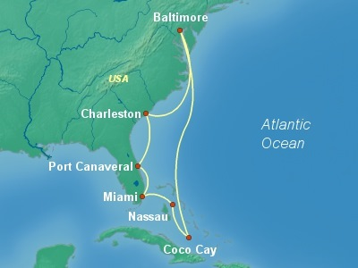 Bahamas Cruise Itinerary Map