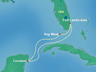 Caribbean Cruise Itinerary Map
