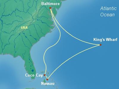 Bermuda Cruise Itinerary Map