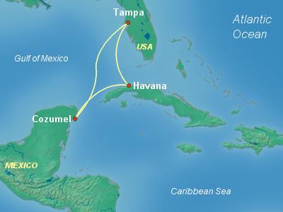 Cuba Cruise Itinerary Map
