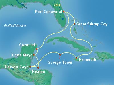 Caribbean Cruise Itinerary Map