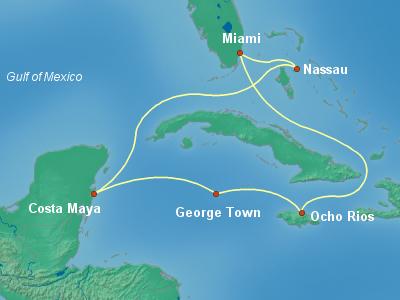 מסלול לקריביים המערביים | MSC Seaside