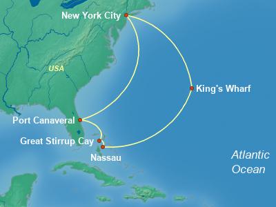 Bahamas Cruise Itinerary Map