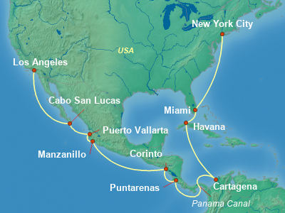 Mexico Cruise Itinerary Map