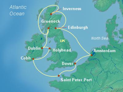 מסלול שייט לאיים הבריטיים | Brilliance of the Seas
