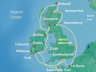 Europe Cruise Itinerary Map