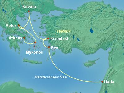 Greece, Turkey, Black Sea Cruise Itinerary Map
