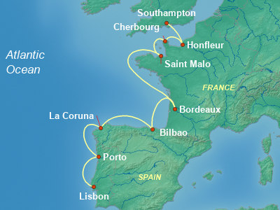 Europe Cruise Itinerary Map