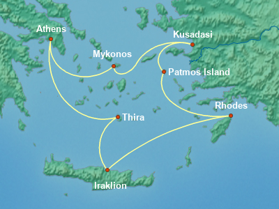 Greece, Turkey, Black Sea Cruise Itinerary Map