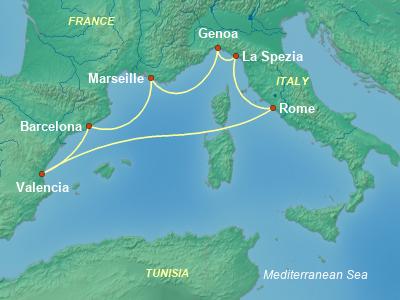 שייט בים התיכון   costa