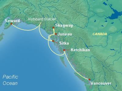 Alaska Cruise Itinerary Map