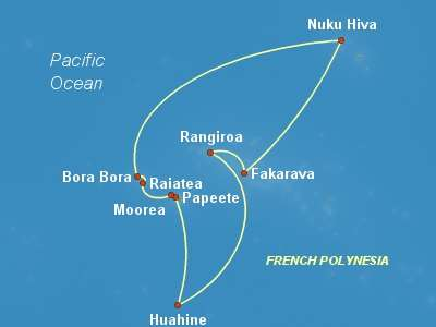 Tahiti Cruise Itinerary Map