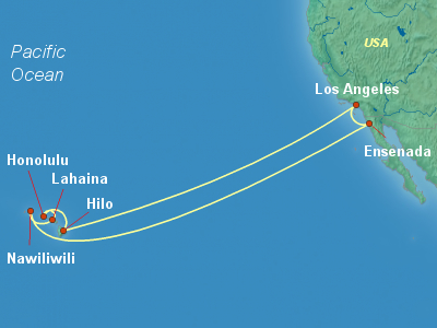 Hawaii Cruise Itinerary Map