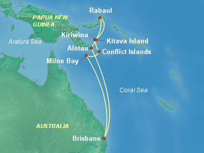 Pacific Islands Cruise Itinerary Map