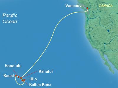 Hawaii Cruise Itinerary Map