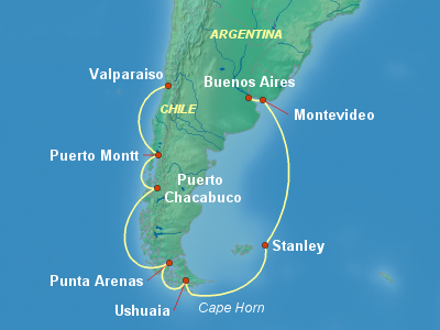 South America Cruise Itinerary Map