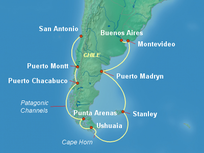 South America Cruise Itinerary Map