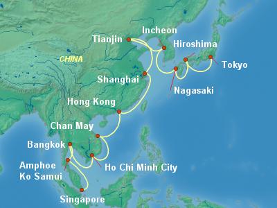 World Cruise Itinerary Map