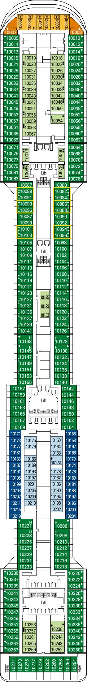 Msc divina ship details deck plans reviews and more for Msc divina floor plan